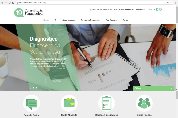 Site i9 Consultoria Financeira
