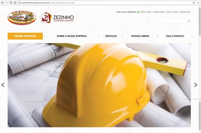 Site Zezinho das Construções